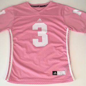 ADIDAS PINK JERSEY. FITTED. Size L, but runs small
